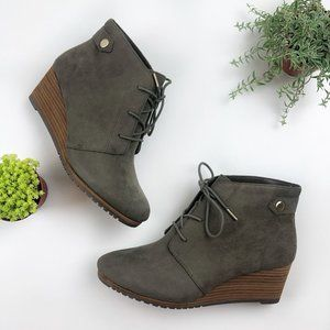 Dr. Scholl's Conquer Olive Wedge Bootie